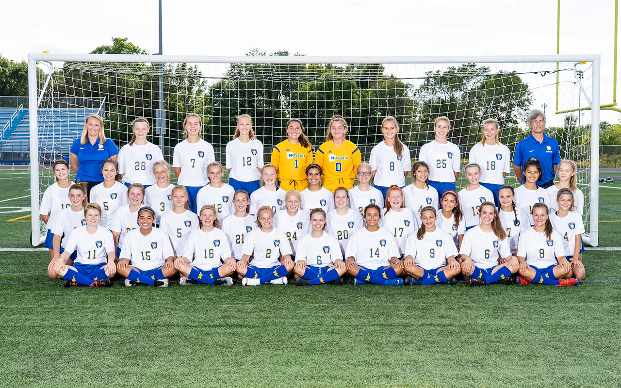 2019 Soccer Girls Ninth Grade Team Photo