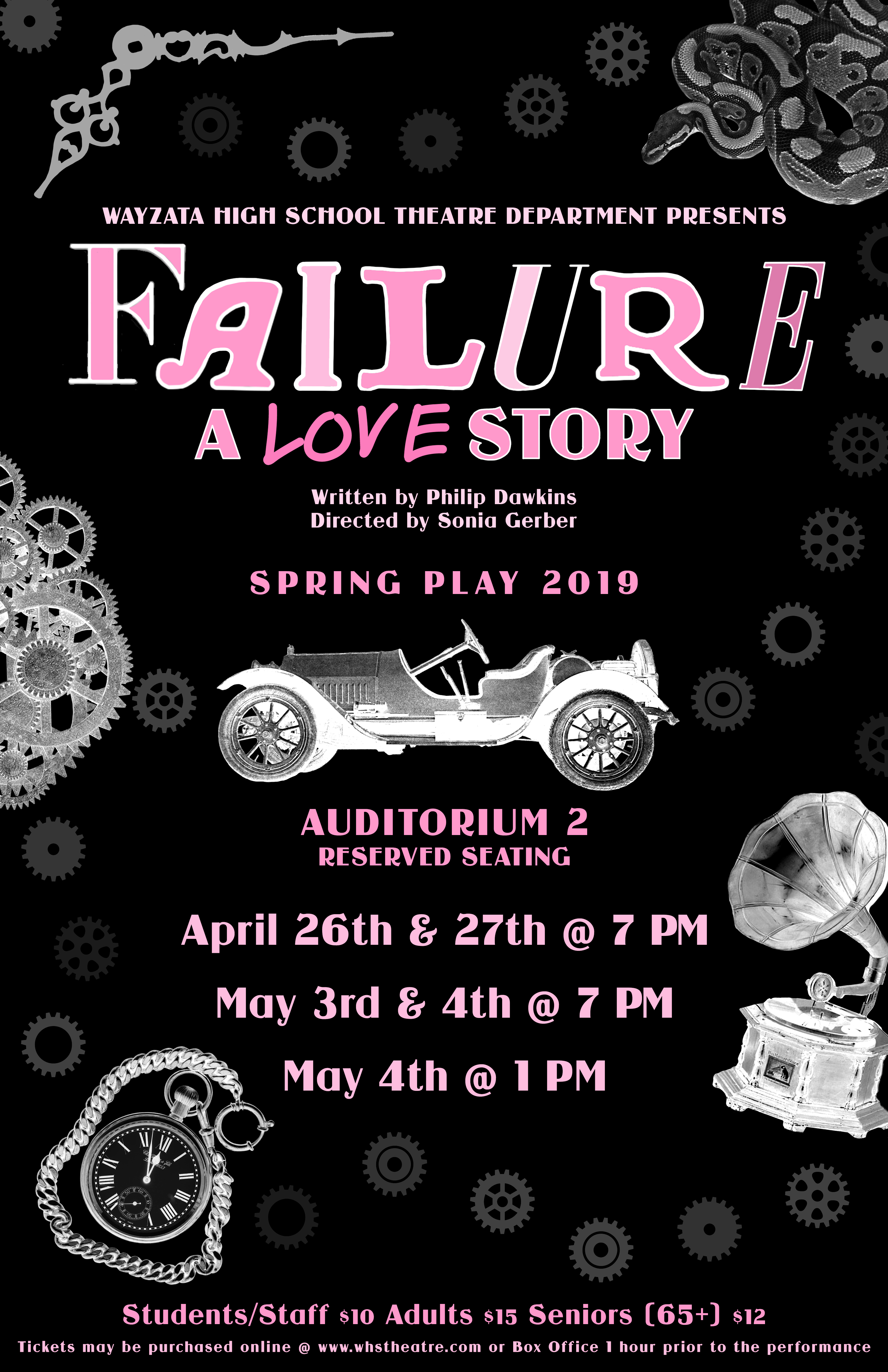 "Wayzata High School Presents ""Failure: A Love Story"""
