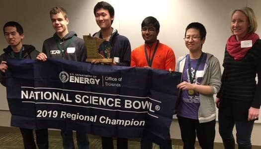 WHS Science Bowl Team - 2019 Regional Champions!