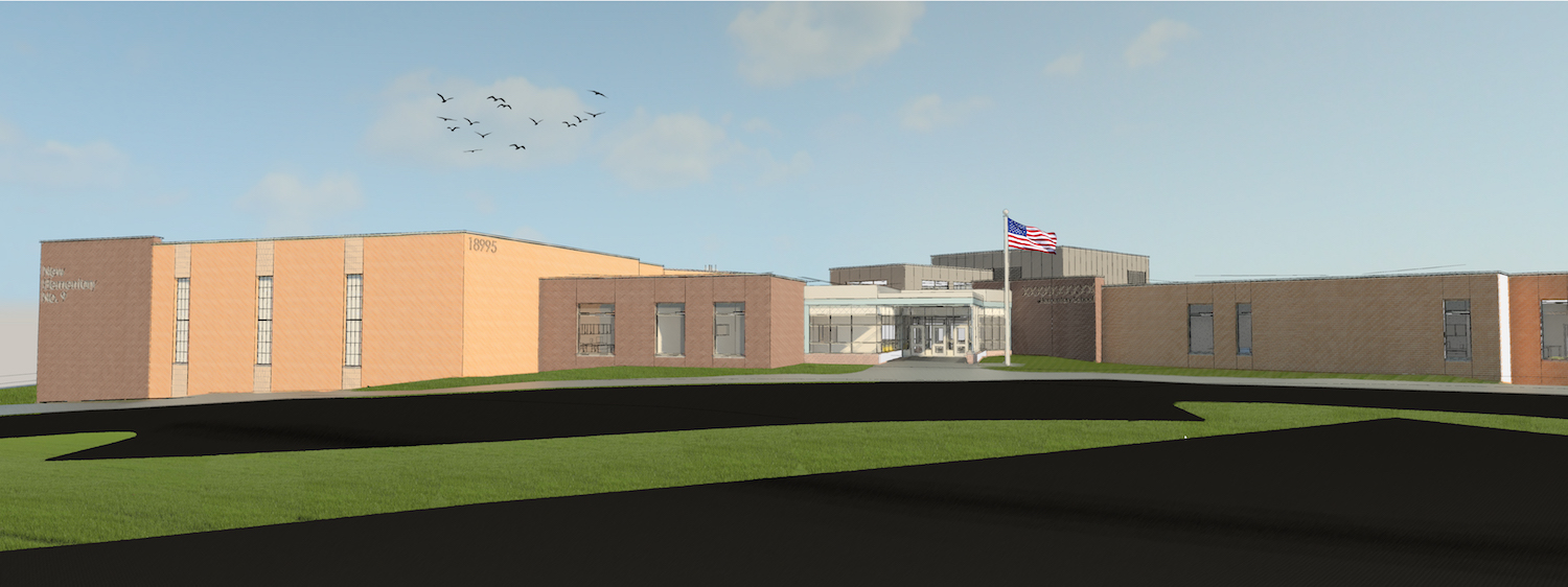 New Elementary School 9 - Main Entry View