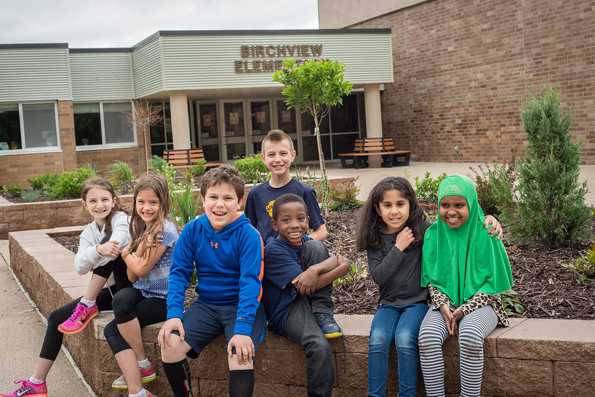 Students at Birchview Elementary School